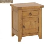 LPD Furniture Hastings 1 Drawer Bedside Cabinet