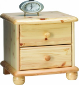 Steens Max 20220219 Bedside Table 45 x 46 x 40 cm Solid Pine Natural Varnish