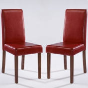 LPD Furniture Brompton Dining Chair, In Red, Set of 2
