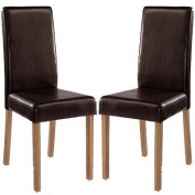 LPD Furniture Oakridge Dining Chair, In Brown, Set of 2