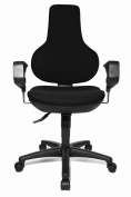Topstar EPO20XBC0E Ergo Point SY Swivel Chair with Free Moveable Backrest - Black
