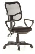 Buerostuhl24 666500 City 50 Office Swivel Chair Mesh Black