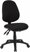 Fabric Operator seating - 3 Lever Operator Chair without Arms - Black (V200-00-K) H995xW1125xD490
