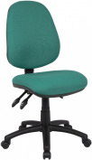 Fabric Operator seating - 3 Lever Operator Chair without Arms - Green (V200-00-N) H995xW1125xD490