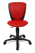 Topstar 70570BB20E High S'cool Kids and Youths Swivel Chair with Height Adjustable Spinal Column Support - Red