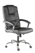 Houston Leather Executive Chair in Cream Colour