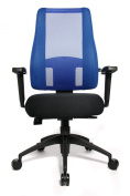 Topstar LT20BTW506E Lady Sitness Deluxe Swivel Chair for Women with Moveable Seat - Black/Blue