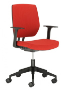 Chairs For Offices 131104RE Designer Swivel Office Chair Firm Back Support with Arms Red.