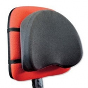 Compucessory Back Support with Removable Cover Adjustable Strap W400xD100xH400mm Black Ref CCS39150