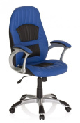 Executive chair / office chair RACER 200 blue / black faux leather