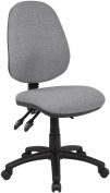 Fabric Operator seating - 3 Lever Operator Chair without Arms - Grey (V200-00-G) H995xW1125xD490