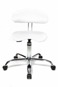 Topstar ST290W73E Sitness 40 Fitness Swivel Chair with Three-Dimensionally Moveable Seat - White