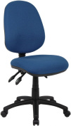 Fabric Operator seating - 3 Lever Operator Chair without Arms - Blue (V200-00-B) H995xW1125xD490