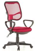 Buerostuhl24 666520 City 50 Office Swivel Chair Mesh Raspberry Red