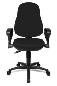 Topstar 8170SBC0E Point 70 Comfortable Home and Office Intervertebral Discs Swivel Chair - Black