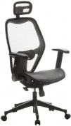 Buerostuhl24 653040 Air-Port Executive Chair Mesh Silver Grey