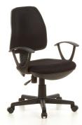 Buerostuhl24 666000 City 10 Office Swivel Chair Mesh Black