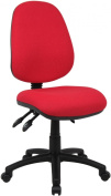Fabric Operator seating - 3 Lever Operator Chair without Arms - Red (V200-00-R) H995xW1125xD490