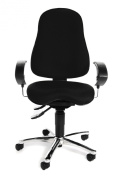 Topstar SI59UG20E Sitness 10 Fitness Swivel Chair with Three-Dimensionally Moveable Seat - Black