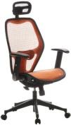 Buerostuhl24 653080 Air-Port Executive Chair Mesh Orange