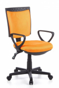 Buerostuhl24 666430 City 40 Office Swivel Chair Mesh Yellow Orange
