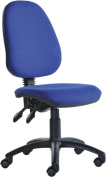 Fabric Operator seating - 2 Lever Operator Chair without Arms - Blue (V100-00-B) H995xW1125xD490