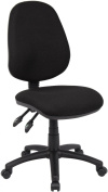 Fabric Operator seating - 2 Lever Operator Chair without Arms - Black (V100-00-K) H995xW1125xD490