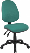 Fabric Operator seating - 2 Lever Operator Chair without Arms - Green (V100-00-N) H995xW1125xD490