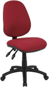 Fabric Operator seating - 2 Lever Operator Chair without Arms - Burgundy (V100-00-BU) H995xW1125xD490