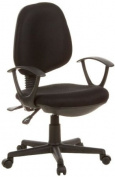 Buerostuhl24 666100 City 20 Office Swivel Chair Mesh Black