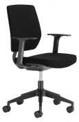 Chairs For Offices 131104BK Designer Swivel Office Chair Firm Back Support with Arms Black.