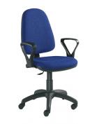 Fabric Operator seating - Budget Operator Fabric Medium Back - Blue (BIL308B1-B) H970xW1140xD570