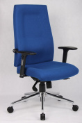 Mode 24 Hour Chairs MOD401-B Fabric Posture High Back Chair 1130-1290X685-805X650 - Blue