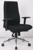 Mode 24 Hour Chairs MOD401-K Fabric Posture High Back Chair 1130-1290X685-805X650 - Black