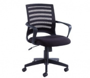 Blue Box Mesh Operator Chair with Fabric Seat - Black
