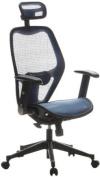 Buerostuhl24 653060 Air-Port Executive Chair Mesh Blue