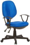 Buerostuhl24 666110 City 20 Office Swivel Chair Mesh Blue