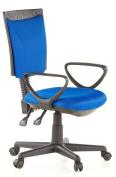Buerostuhl24 666410 City 40 Office Swivel Chair Mesh Blue