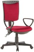 Buerostuhl24 666420 City 40 Office Swivel Chair Mesh Red