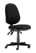 Chairs For Offices 130019BK Computer Chair Ergonomic Adjustments High Back Black.