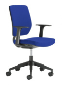 Chairs For Offices 131104BL Designer Swivel Office Chair Firm Back Support with Arms Blue.