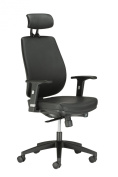Chairs For Offices 134002BKL Leather Executive Reclining Office Chair Neck Lumbar Back Support Black.