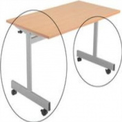 FF Jemini Flip Top Table Frame Silv Er