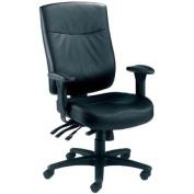 TC Marathon CH1105 Heavy Duty Leather Chair - Black