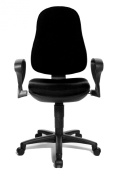 TOPSTAR 8540S G20 Office Swivel Chair Support P Black with Armrests