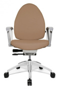 Topstar J670RT24E Open Base 20 Design Swivel Chair with Comfortable Soft Upholstery - Brown