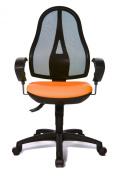 Topstar OP20UG04E Open Point SY Office Swivel Chair - Orange