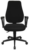 Topstar TS10RBC0E Trend Star 10 Comfortable Office Swivel Chair with Fix Ring Armrests - Black