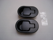 2 X BLACK METAL ALLOY REPLACEMENT HANDLES FOR RECLINER CHAIRS ARH5