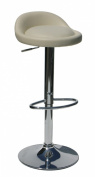Pair of Sofia Cream Faux Leather Kitchen Bar Stools Breakfast Bar Stools from Lamboro